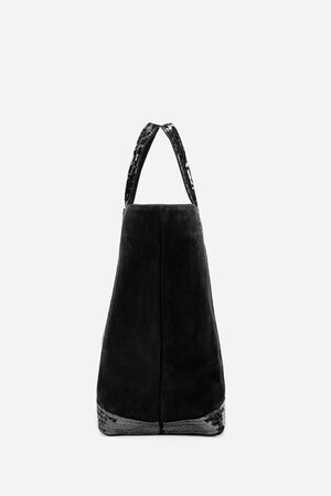 Medium + Nubuck Leather And Sequins Cabas Tote Bag