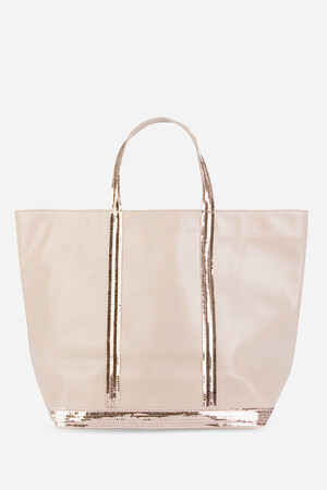 Medium + Leather and Sequins Cabas Tote Bag