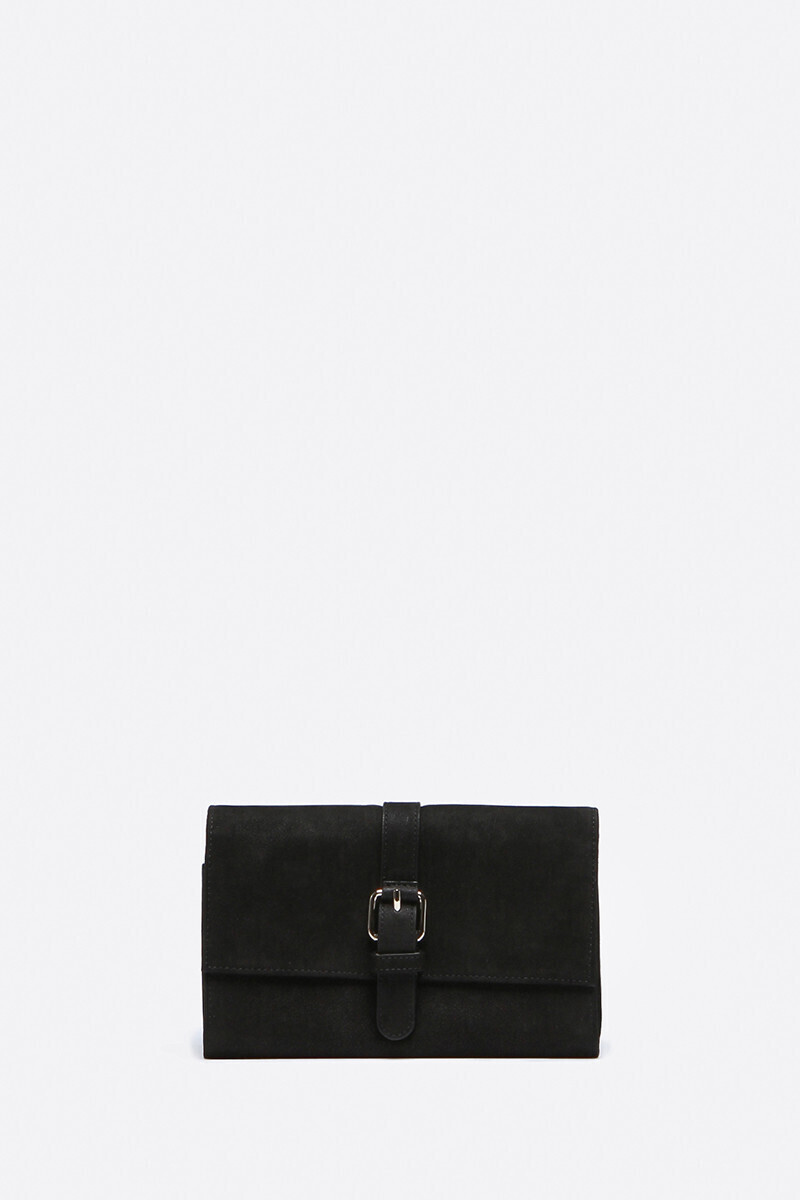 Calfskin Leather Lune Wallet Black/Caramel alt_par_VB
