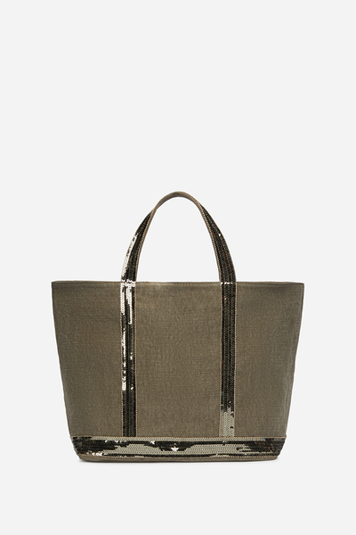 Medium Linen and Sequins Cabas Tote Bag Vanessa Bruno