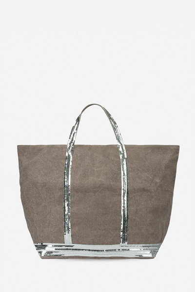 Large Linen and Sequins Cabas Tote Bag Vanessa Bruno