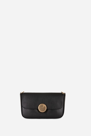 Patent Calfskin Leather Moon Flab Bag