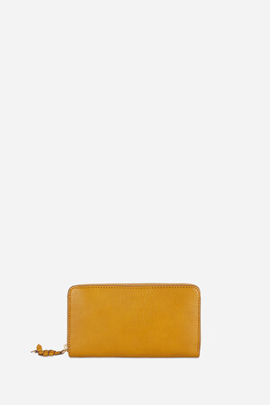 Large Grained Calfskin Leather Charly Wallet