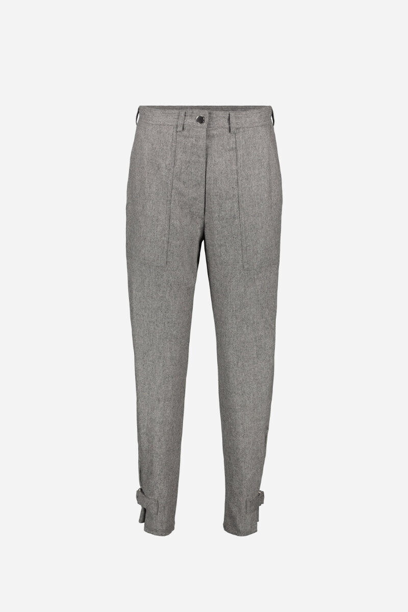 Stretch flannel Iberica trousers Black/Tweed grey par Vanessa Bruno