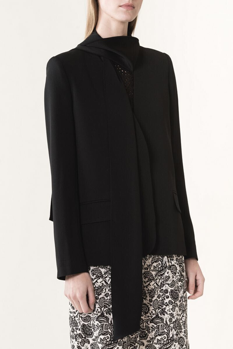 Satin-backed crepe Jeanette jacket Black par Vanessa Bruno