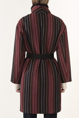 Striped jacquard Jewel coat