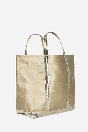 Medium + Waxed Cotton and Sequins Cabas Tote Bag