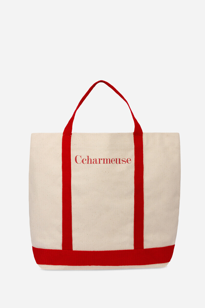 Ccharmeuse Cotton Cabas Tote Bag IVORY par Vanessa Bruno