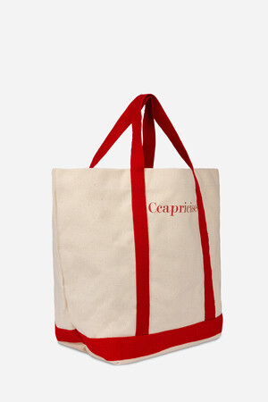Ccapricieuse Cotton Cabas Tote Bag
