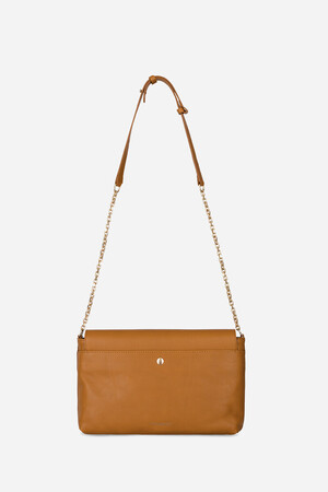 Smooth Calfskin Leather Moon Flap Bag