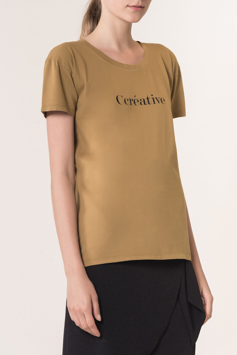 Cotton Ccreative T-shirt KHAKI/IVORY par Vanessa Bruno