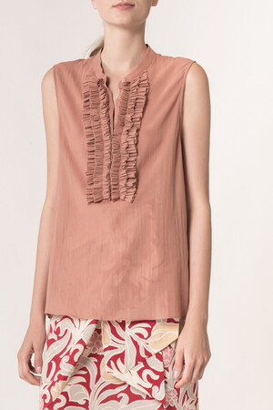 Cotton crepe Laria Blouse