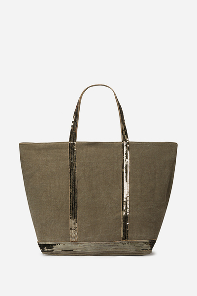 Medium + Linen And Sequins Cabas Tote Bag Vanessa Bruno