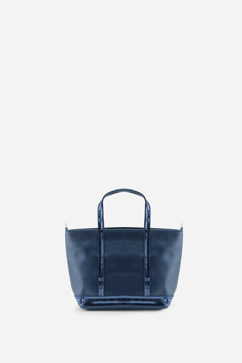 Baby Leather and Sequins Cabas Tote Bag Black/NIGHT alt_par_VB