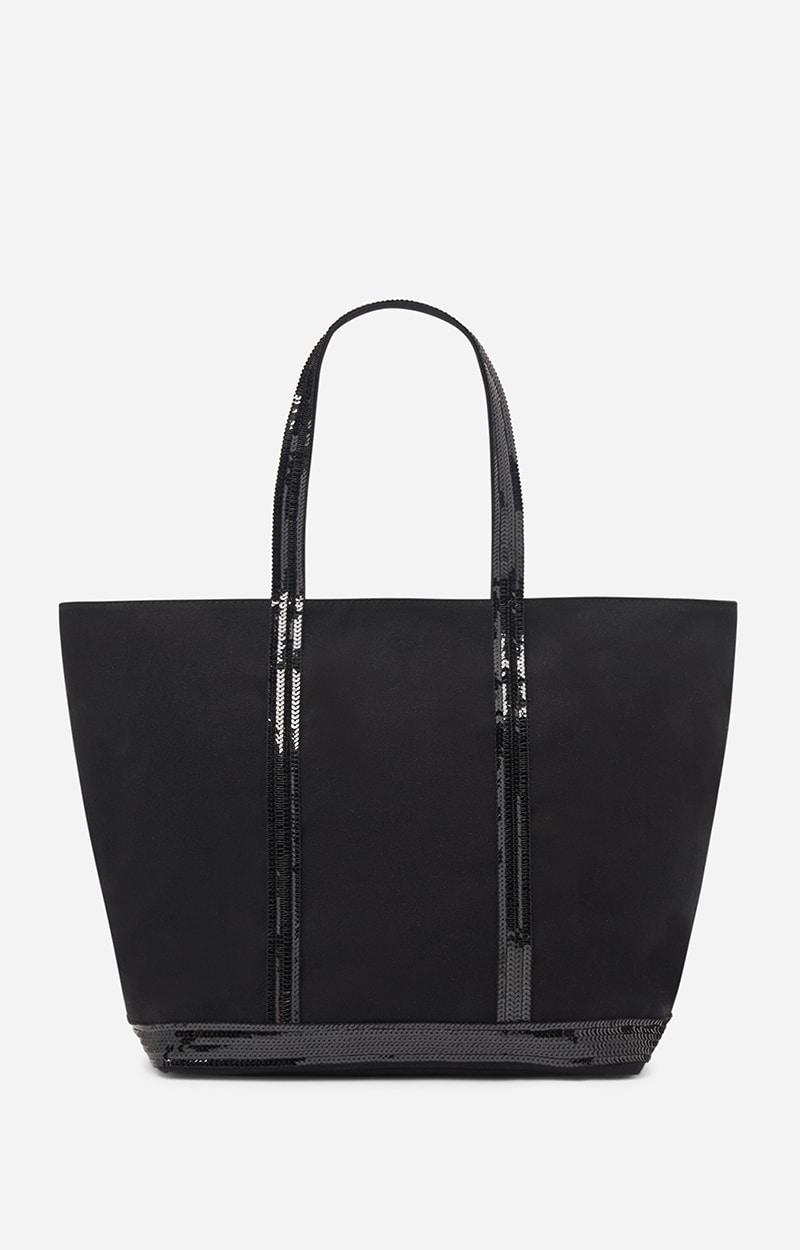 Sequin and canvas Medium zipped Tote Vanessa Bruno K09JbISJj