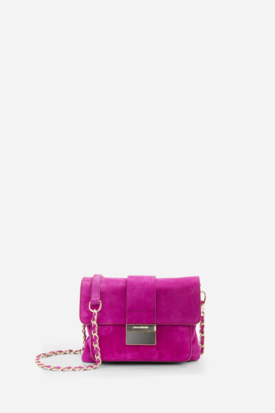 Velvet leather Fox flap bag