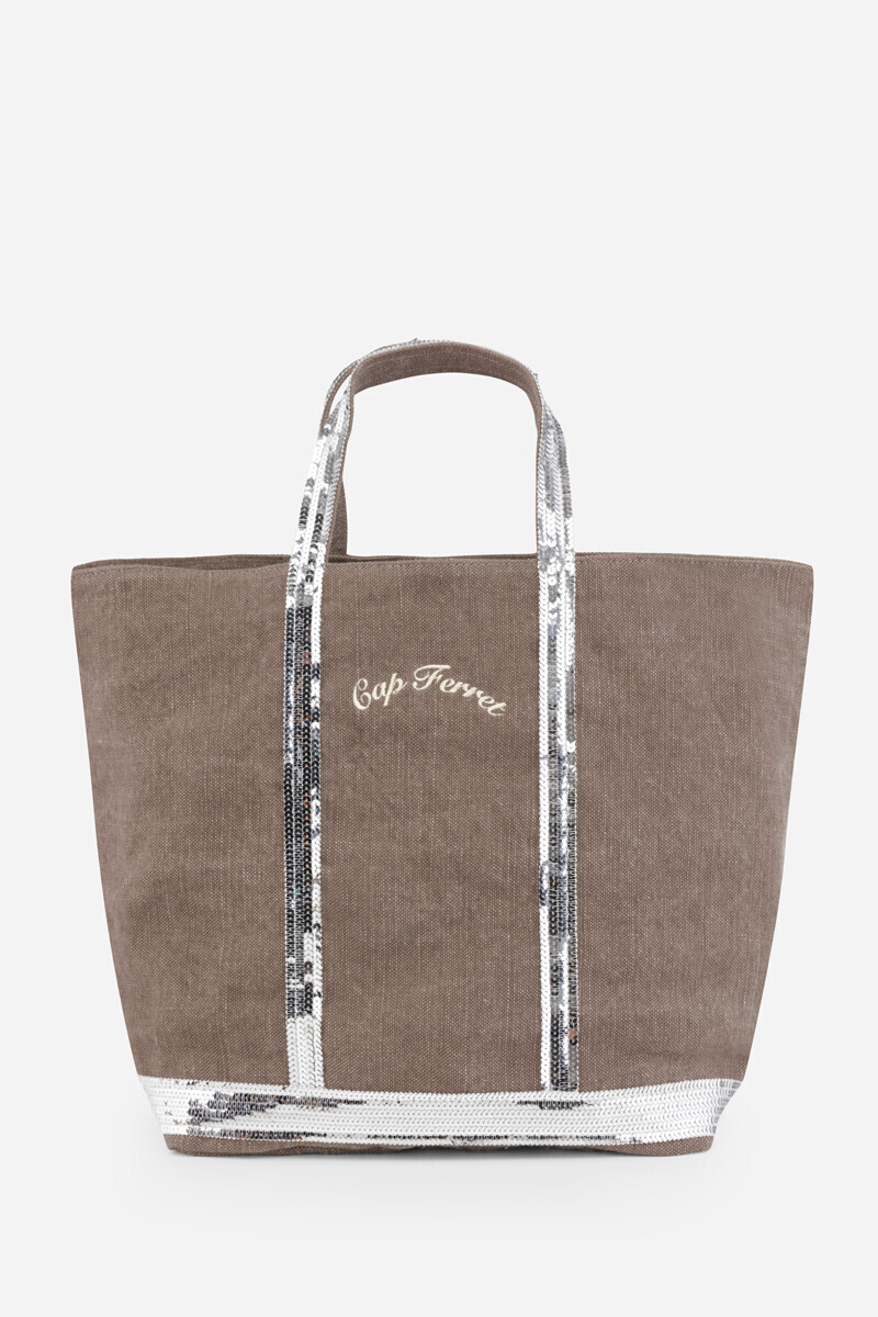 Assez Cap Ferret Medium + Linen and Sequins Cabas tote Bag, Vanessa Bruno KU13