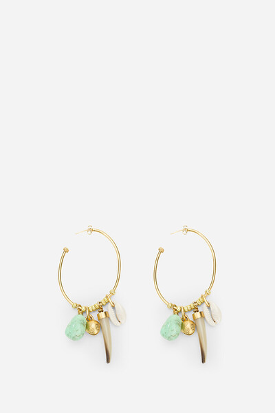 Chrysoprase Hoop Earrings