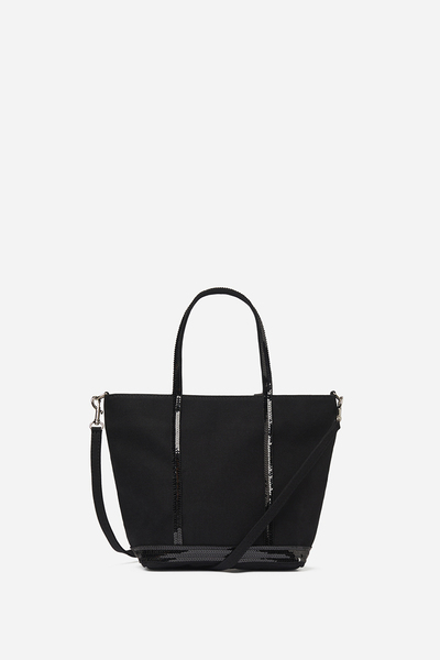 Small Canvas And Sequins Cabas Tote Bag With Detachable Strap Vanessa Bruno