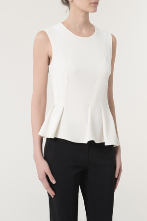 Satin-Backed Crepe Erath Top