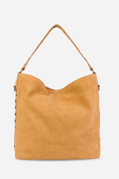 Velvet Leather Hobo Cabas Tote Bag