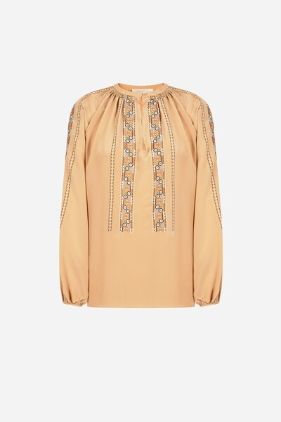 Silk Honor embroidered blouse