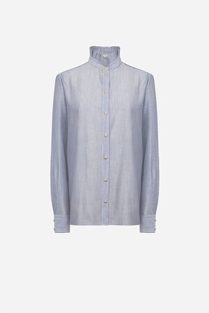 Striped cotton seersucker Hemma shirt