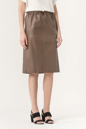Lambskin leather Hellenne skirt