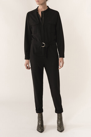 Wool and viscose twill Haby jumpsuit