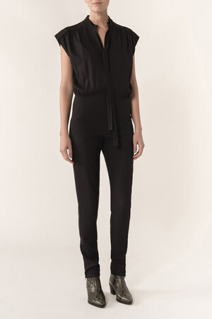 Light satin-backed crepe Helno jumpsuit
