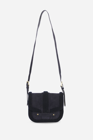 Suede and lambskin leather Gemma Flap Bag